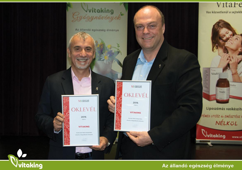 MagyarBrands díjas lett a Vitaking Kft.