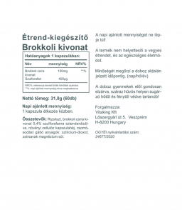 Vitaking Brokkoli kivonat 100mg (szulforafán 400μg)