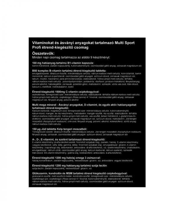 Multi Sport Profi vitamin csomag, kemény munkához, vagy edzésekhez!