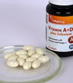 Vitaking® A+D+E plus szelén - létfontosságú tápanyagok egy kapszulában