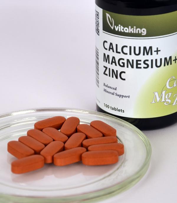 Vitaking CalMag-Cink: kalcium, magnézium cink komplex