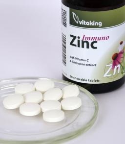 Vitaking Cink rágótabletta (Cink+C-vitamin+Bíbor kasvirág komplex)