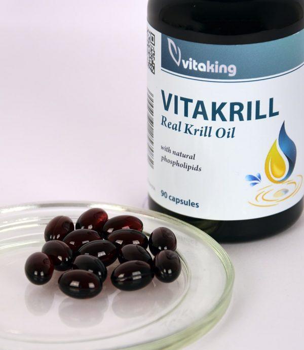 Vitaking Vitakrill (krill olaj) 500 mg +astaxanthin (90db)