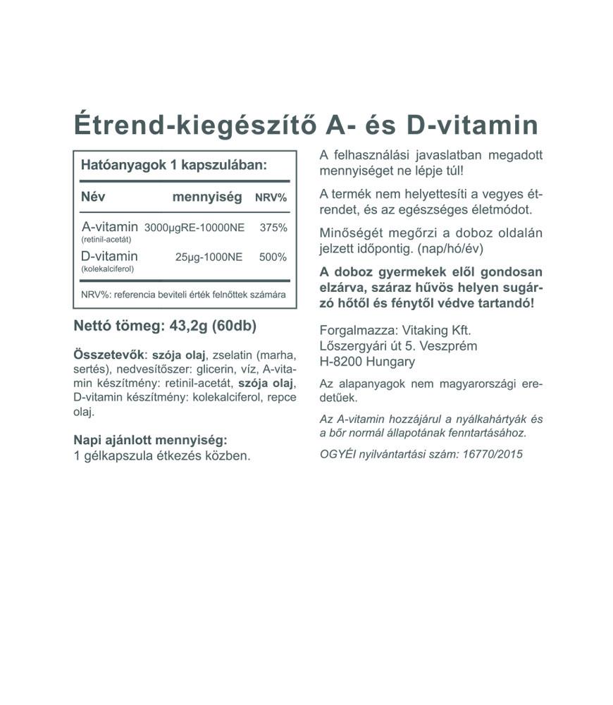 Vitaking A és D vitamin komplex 10000NE /1000NE