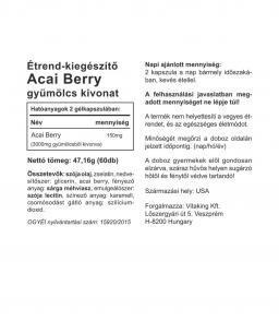 Vitaking® Acai Berry kivonat 150mg (3000mg Acai gyümölcsből)