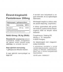 Vitaking Pantoténsav - B5-vitamin, anormál mentális teljesítményhez