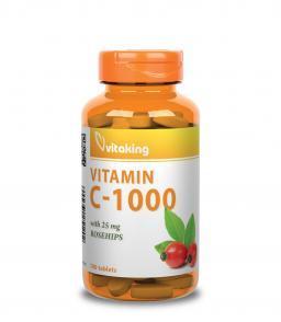 1000 mg C-vitamint szedni naponta napjainkban szinte már alap. Ehhez még jár tablettánként 25 mg csipkebogyó is. Kiváló ár/érték arány!