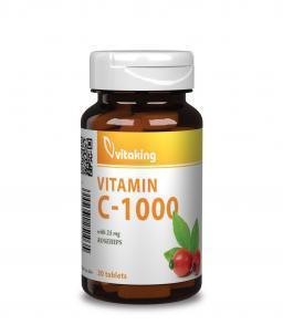 Vitaking C-vitamin 1000mg + 25mg csipkebogyó (30)