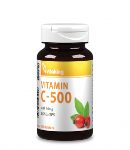 Vitaking C-vitamin 500mg (100 tablatta) 30 mg csipkebogyóval