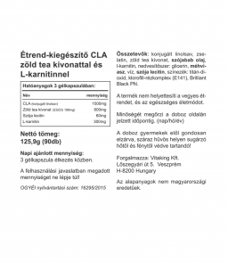 Vitaking CLA Plus ( zöld teával, L-karnitinnel és lecitinnel)