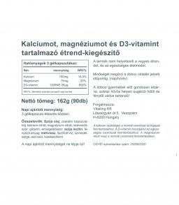 Vitaking CalMag CITRÁT+D3-vitamin - három hatóanyag együttes erejével