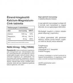 Vitaking Kalcium-Magnézium-Cink Komplex