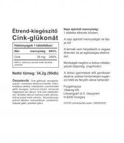 Cink glükonát 25 mg (90db)