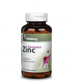 Vitaking Cink Immuno rágótabletta - C-vitaminal és Kasvirággal!