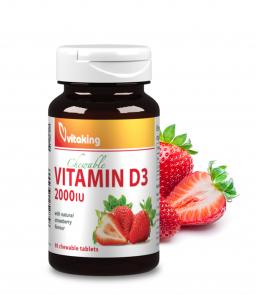 Vitaking Epres D3-vitamin 2000NE (90 rágótabletta)