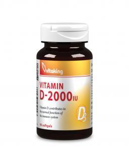 D3 vitamin 2000NE 90db gélkapszula napfénymentes napokra!