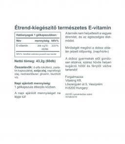 Vitaking E-vitamin (400NE) 60 db-os, természetes (d-alfa tokoferol)