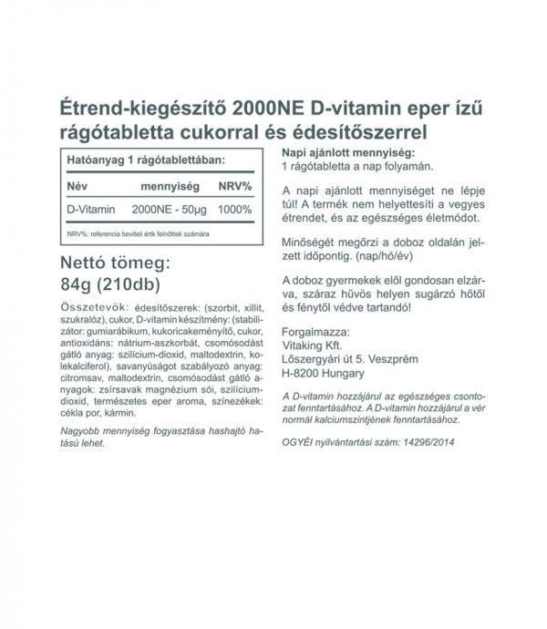 D3-vitamin rágótabletta