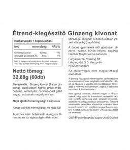 Vitaking Ginzeng kivonat 400mg (60) - nem csak kimerültség ellen!