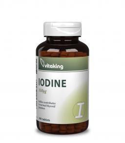 Vitaking Jód (Iodine) tabeltta (240) - a pajzsmirigy egészségééért
