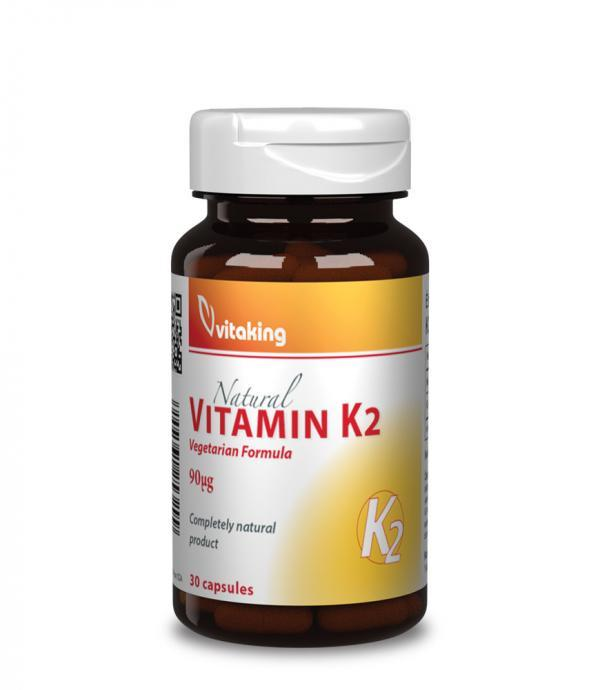 Vitaking K2 vitamin (természeres, 90µg VITAMK7®) vitaking.hu