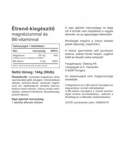 Vitaking szerves Magnézium+B6 vitamin - (magnézium citrát)