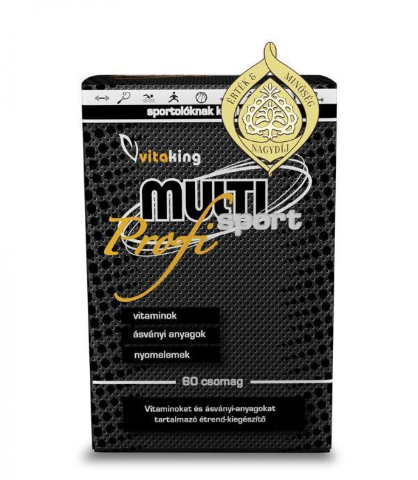 A Multi Sport Profi ( Érték Minőség Nagydíj) sportolók és kemény, megerőltető fizikai munkát végzők számára összeállított multivitamin csomag.