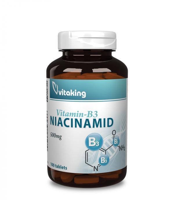 Vitaking Niacinamid (B3 vitamin) 500mg (100db) vitaking.hu