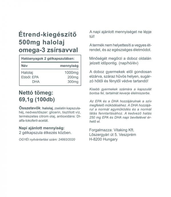Vitaking Omega-3 Kids - Omega-3 gyerekeknek (500mg)