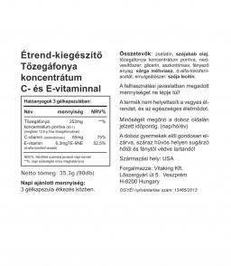 Vitaking Tőzegáfonya (50:1) koncentrátum gélkapszula
