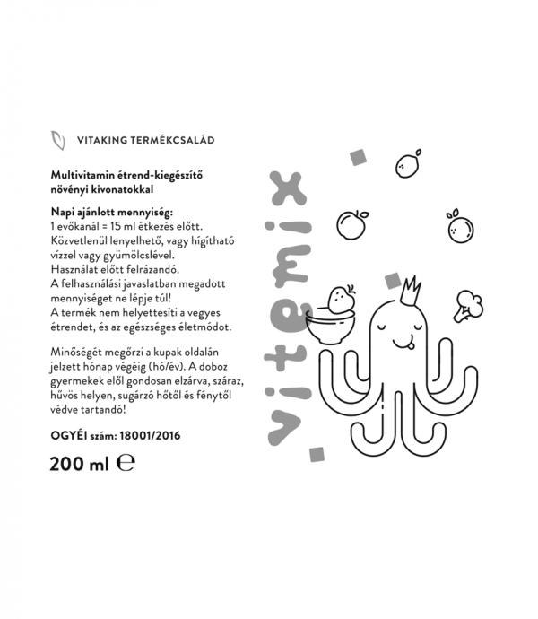 Vitaking Vitemix multivitamin szirup növényi kivonatokkal!