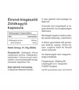 Vitaking Zöldkagyló 400 mg (60 kapszlua) - GAG tartalom 8mg
