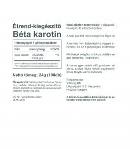 Vitaking Béta Karotin 25000NE (100 gélkapszula)