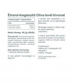 Vitaking Olivalevél kivonat 500mg (100mg sztenderdizált oleuropein)