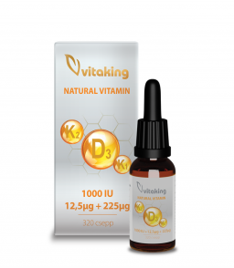 Vitaking D3+K2+K1 vitamin csepp MCT olajjal 10ml (160 adag)