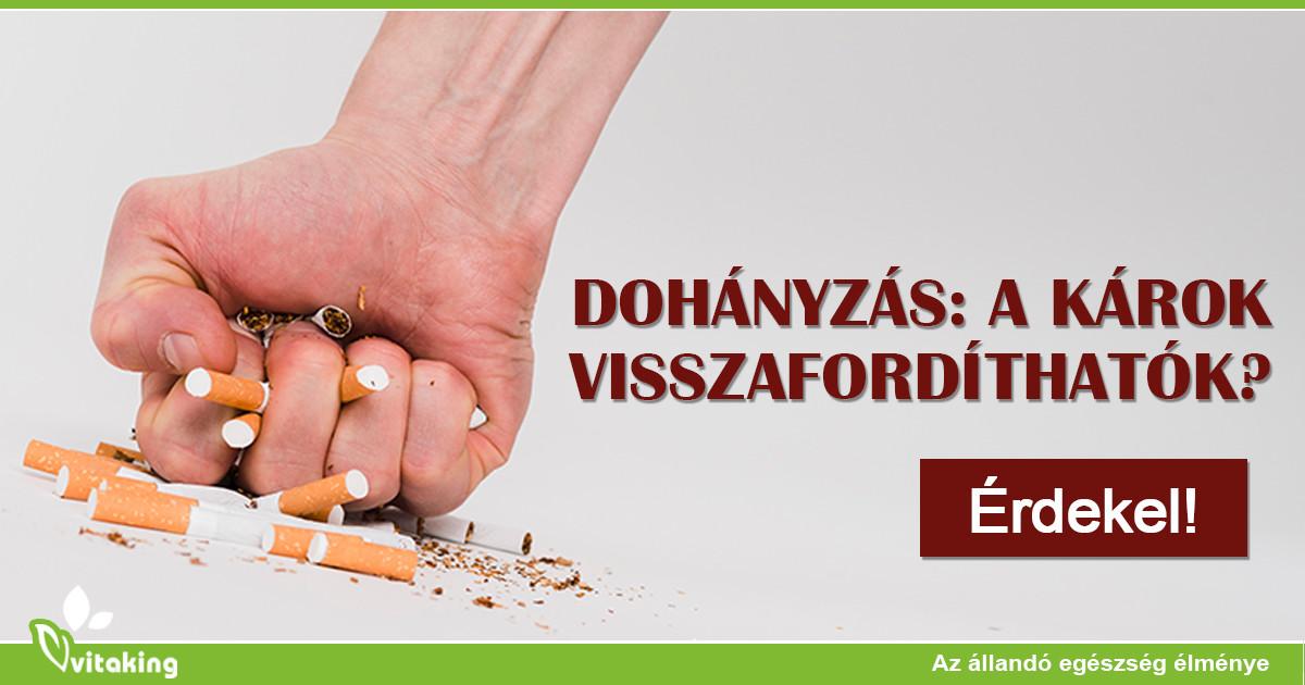dohányzás ellenőrzése a szervezetben