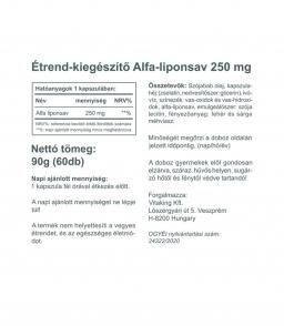 Vitaking Alfa liponsav 250mg (60 kapszula) vitaking.hu