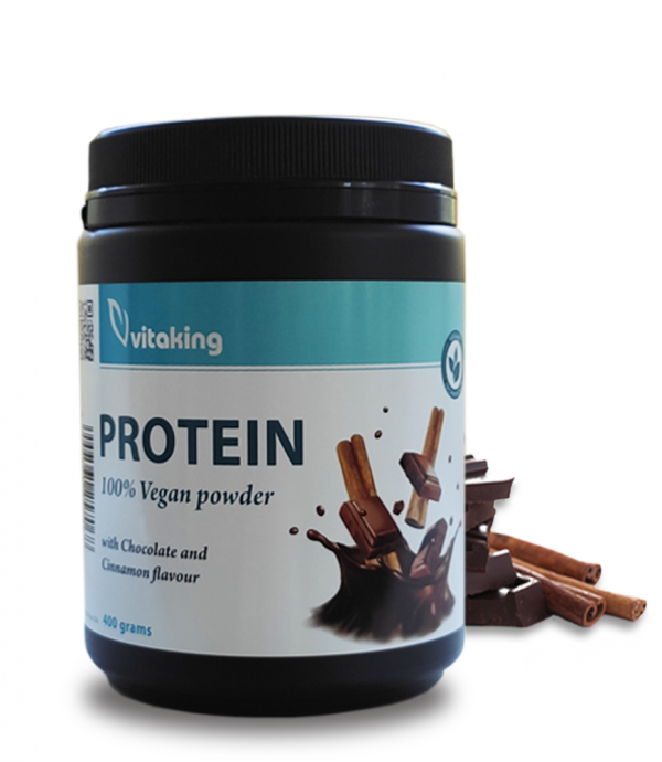 Vitaking Vegán Protein 400g (borsó és rizsfehérje) csoki-fahéj ízben