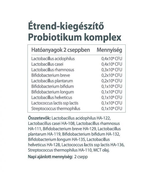 Vitaking Probiotikum Komplex 10-féle baktériummal (150 csepp)