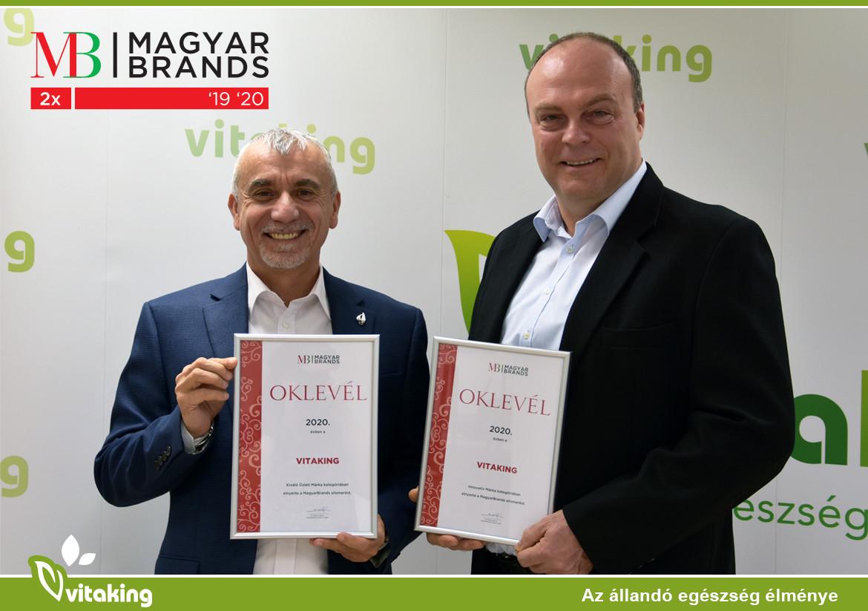Kétszeres MagyarBrands díjas a Vitaking Kft.
